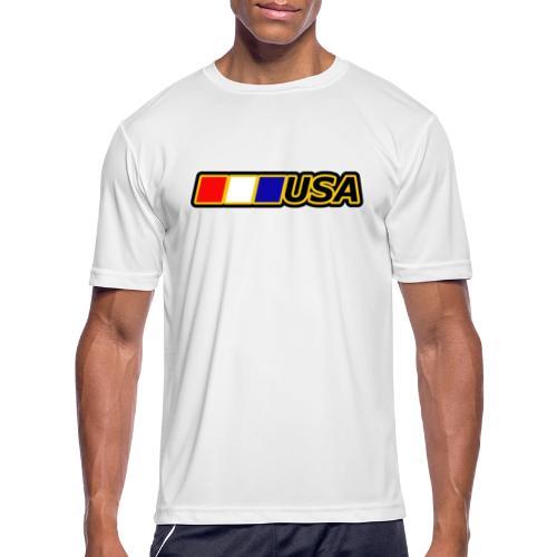 USA - Men's Moisture Wicking Performance T-Shirt