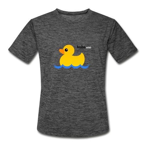 Hubs Duck - Wordmark and Water - Men's Moisture Wicking Performance T-Shirt