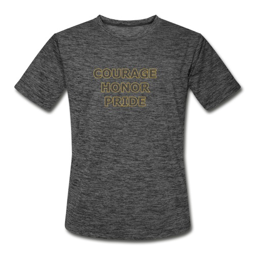 courage honor pride - Men's Moisture Wicking Performance T-Shirt