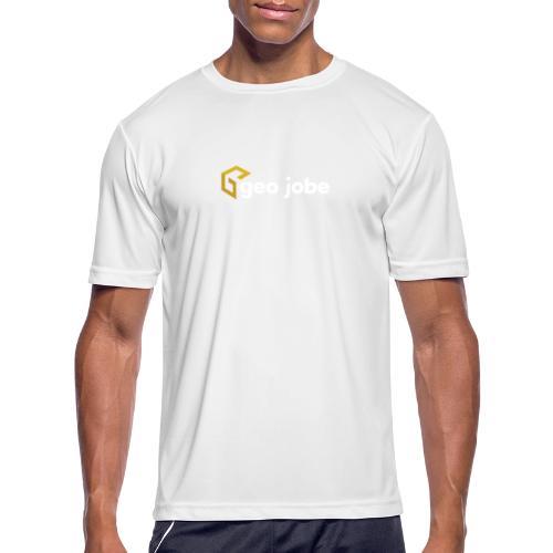 GEO Jobe Corp Logo White Text - Men's Moisture Wicking Performance T-Shirt