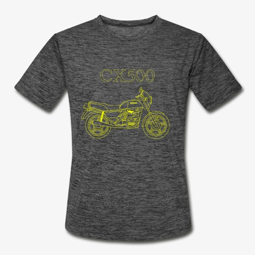 CX500 line drawing - Men's Moisture Wicking Performance T-Shirt