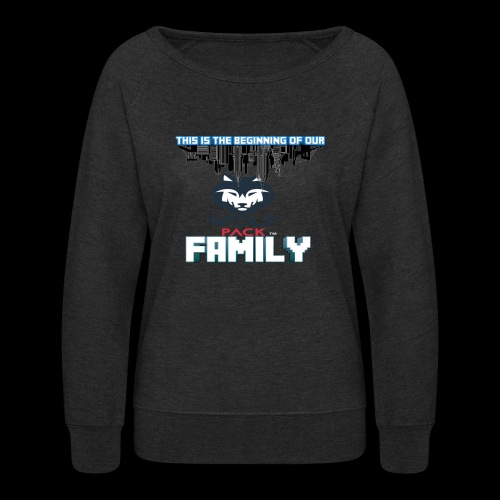 We Are Linked As One Big WolfPack Family - Women's Crewneck Sweatshirt