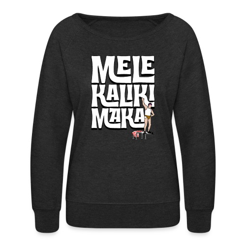 Mele Kalikimaka Cousin Eddie at the Swimming Pool - Women's Crewneck Sweatshirt