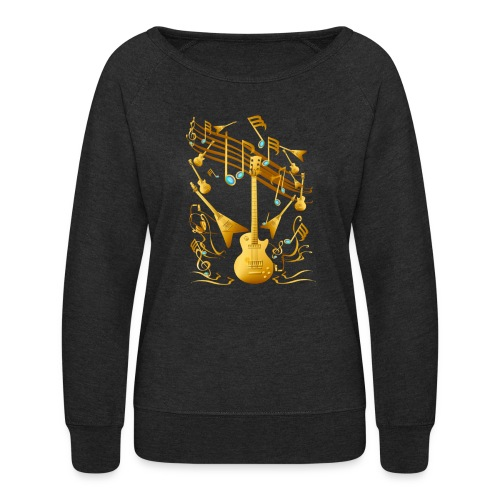 Gold Guitar Party - Women's Crewneck Sweatshirt