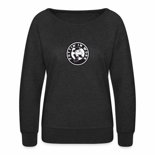 Solid Puttin' In Work Logo - Women's Crewneck Sweatshirt