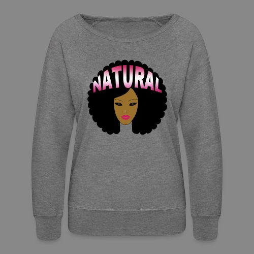 Natural Afro (Pink) - Women's Crewneck Sweatshirt