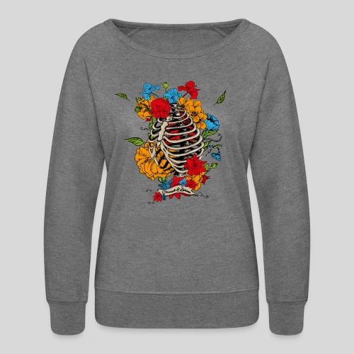 Flowers in my chest - Women's Crewneck Sweatshirt