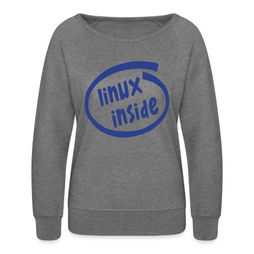linux inside - Women's Crewneck Sweatshirt