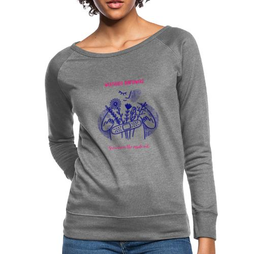 Weathered Sunflowers Grow From The Inside Out - Women's Crewneck Sweatshirt