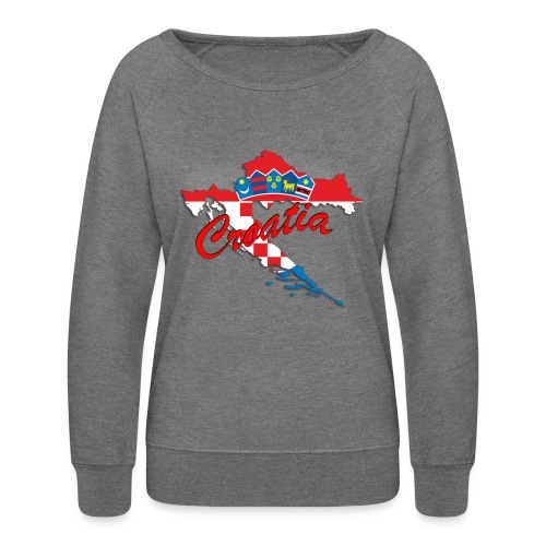 Croatia Football Team Colours T-Shirt Treasure Des - Women's Crewneck Sweatshirt