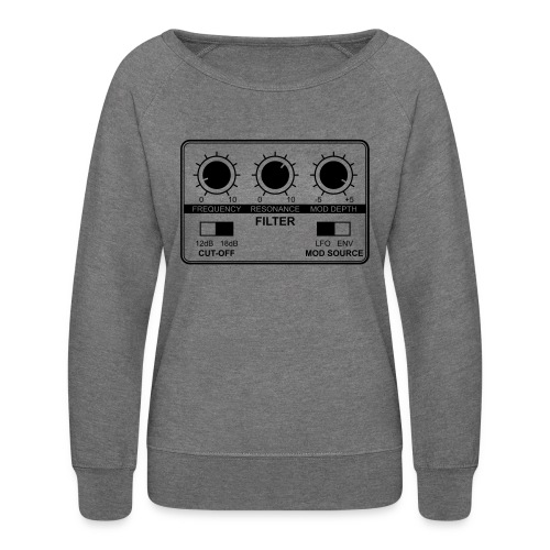 Synth Filter with Knobs - Women's Crewneck Sweatshirt