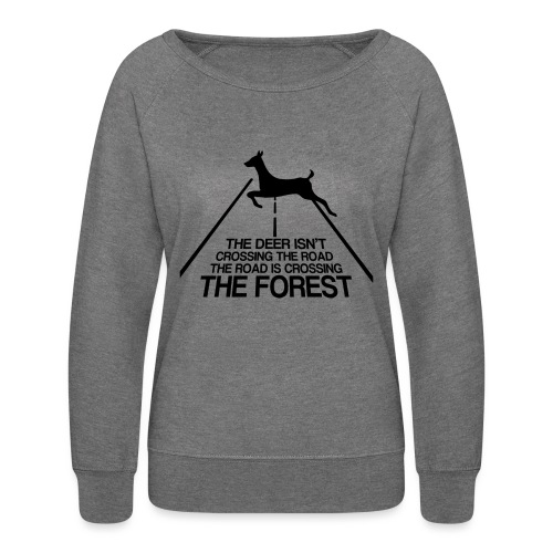 Deer's forest - Women's Crewneck Sweatshirt