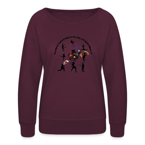 You Know You're Addicted to Hooping & Flow Arts - Women's Crewneck Sweatshirt