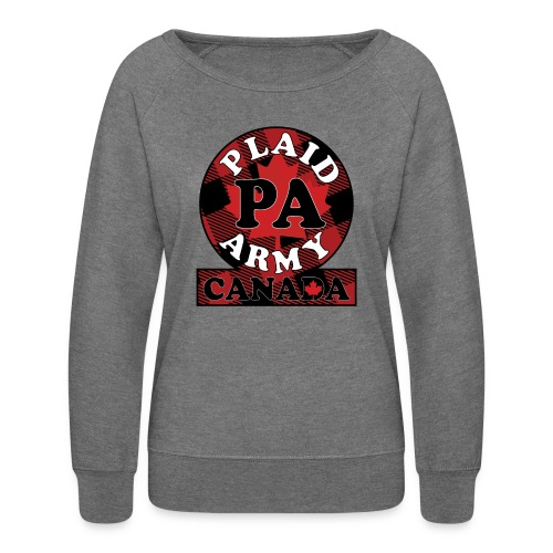 Plaid Army Canada - Women's Crewneck Sweatshirt