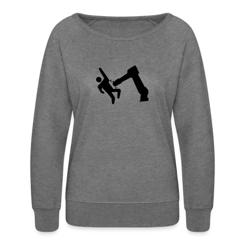 Robot Wins! - Women's Crewneck Sweatshirt