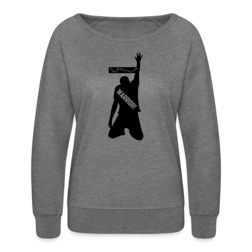 warrior shirt front - Women's Crewneck Sweatshirt
