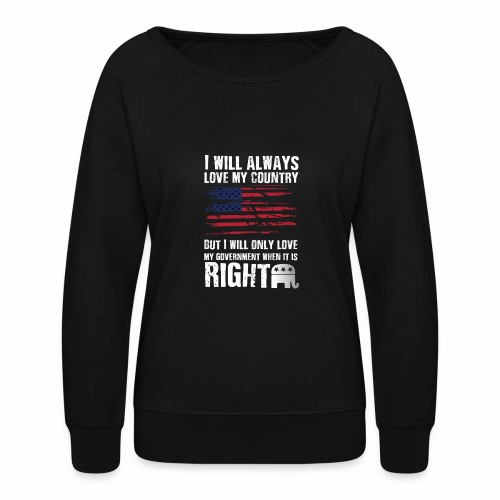 I Will Always Love My Country White - Women's Crewneck Sweatshirt