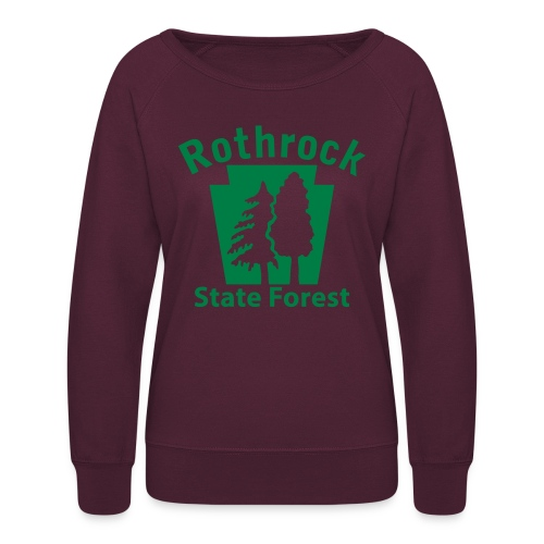 Rothrock State Forest Keystone (w/trees) - Women's Crewneck Sweatshirt