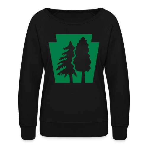PA Keystone w/trees - Women's Crewneck Sweatshirt