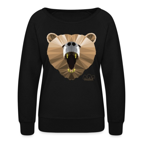 Hungry Bear Women's V-Neck T-Shirt - Women's Crewneck Sweatshirt