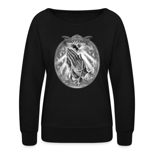 Praying Hands by RollinLow - Women's Crewneck Sweatshirt