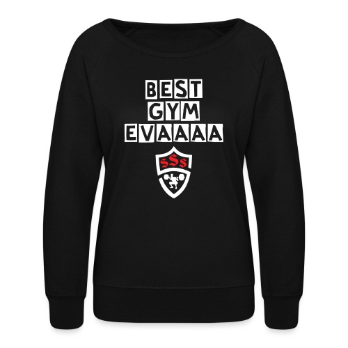 Best Gym Evaaa White and Red - Women's Crewneck Sweatshirt