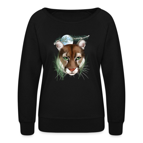 Midnight Puma - Women's Crewneck Sweatshirt