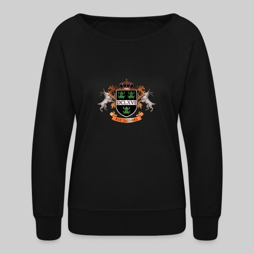 Satanic Heraldry - Coat of Arms - Women's Crewneck Sweatshirt