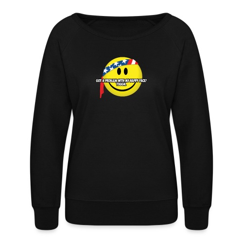 Happy Face USA - Women's Crewneck Sweatshirt