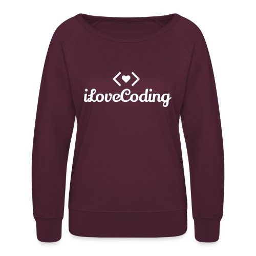 I Love Coding - Women's Crewneck Sweatshirt