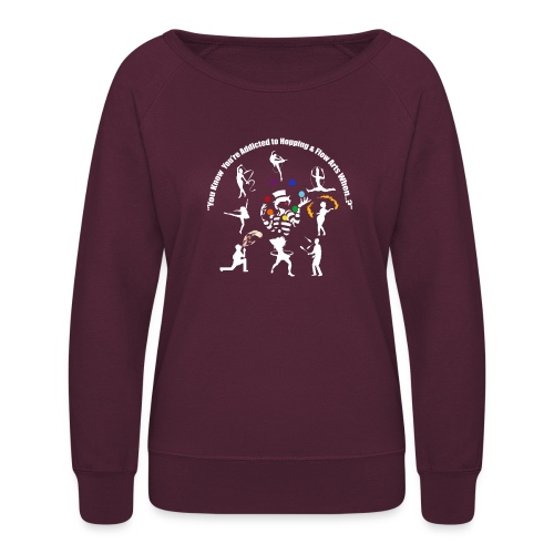 You Know You're Addicted to Hooping - White - Women's Crewneck Sweatshirt