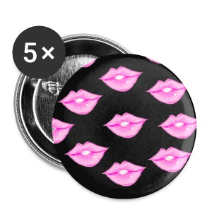 Lips with Black Background - Small Buttons