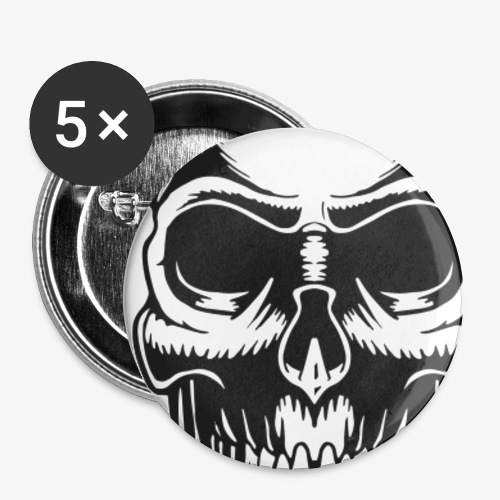 Skull Vintage Tattoo - Small Buttons