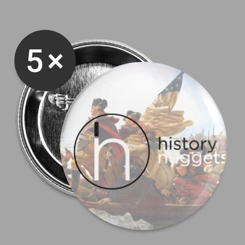 History Nugget Washington Buttons - Small Buttons
