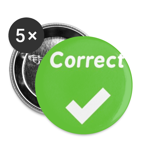 Kahoot Correct Answer - Buttons small 1'' (5-pack)