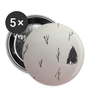 Black and White lone Tree. - Small Buttons