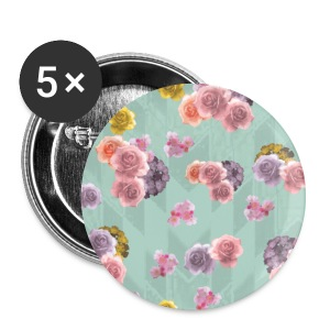 Floral Graphic Pattern1 - Small Buttons