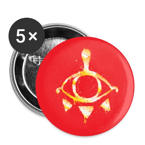 Yiga Scum (gold on red) - Buttons small 1'' (5-pack)