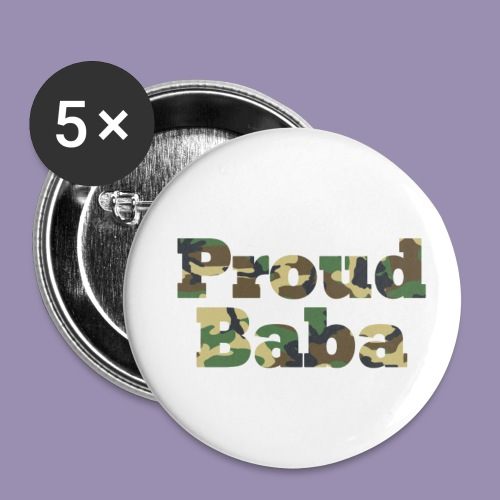Proud Baba-Camo - Buttons small 1'' (5-pack)
