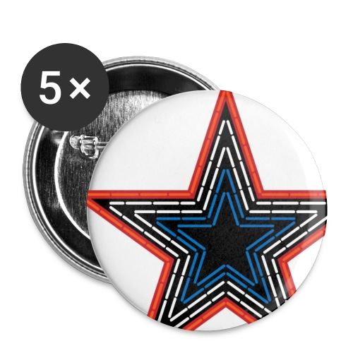 Roanoke Virginia Pride Mill Mountain Star - Small Buttons