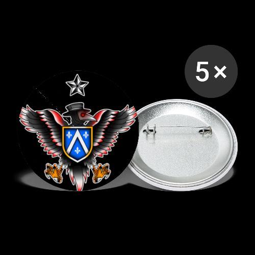 PLAGUE DOCTOR EAGLE BIRD STAR EMBLEM CREST! - Buttons small 1'' (5-pack)