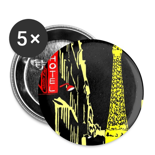 PARIS - Buttons small 1'' (5-pack)