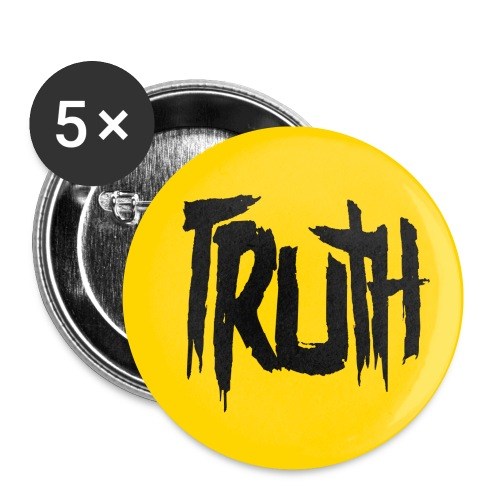 TruthLogo01 Black png - Buttons small 1'' (5-pack)