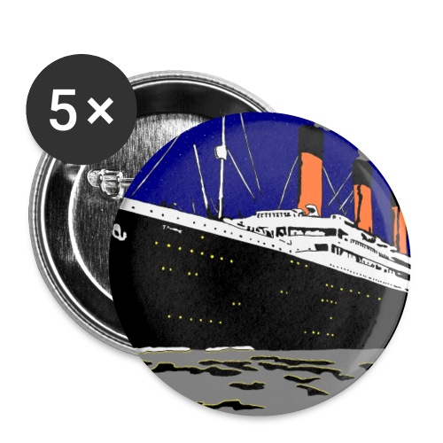 TITANIC - Buttons small 1'' (5-pack)