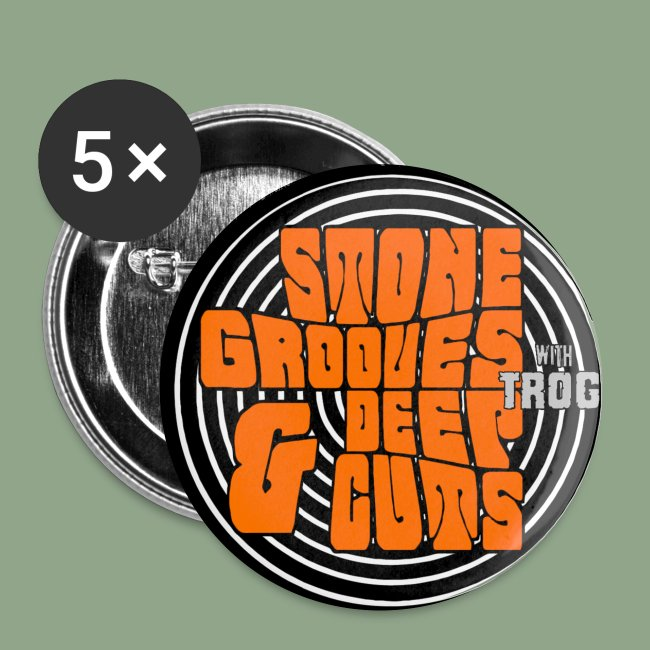 Stone Grooves Deep Cuts Logo Button