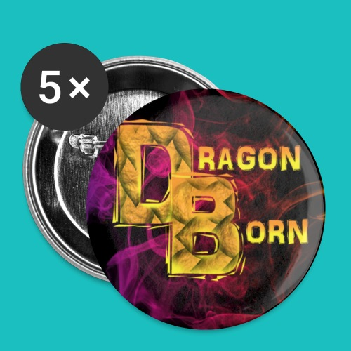 DragonBorn Logo - Buttons small 1'' (5-pack)