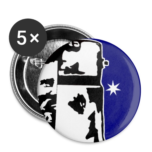 NED KELLY - Buttons small 1'' (5-pack)