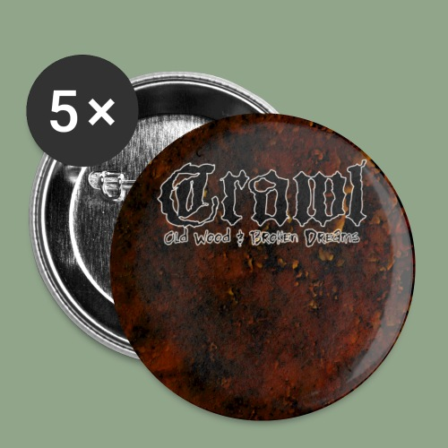 Crawl Old Wood button - Buttons small 1'' (5-pack)
