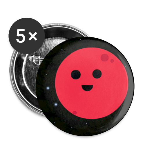 Red Planet Logo - Buttons small 1'' (5-pack)