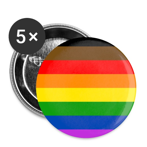 More Color More Pride Flag - Small Buttons